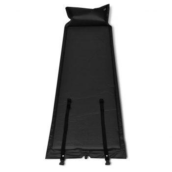 Črna samo napihljiva blazina 185 x 55 x 3 cm (enojna)