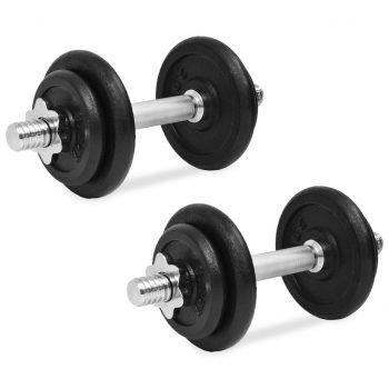 14 delni komplet uteži 20 kg iz litega železa