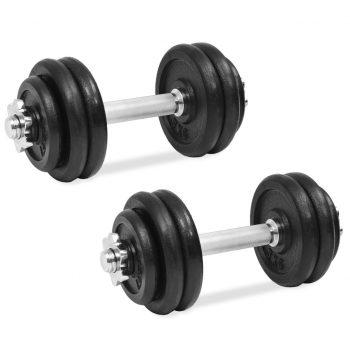 18 delni komplet uteži 30 kg iz litega železa