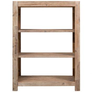 3-nadstropna knjižna omara 80x30x110 cm trden akacijev les