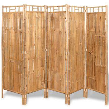5-delni Delilnik Prostora Bambus 200x160 cm