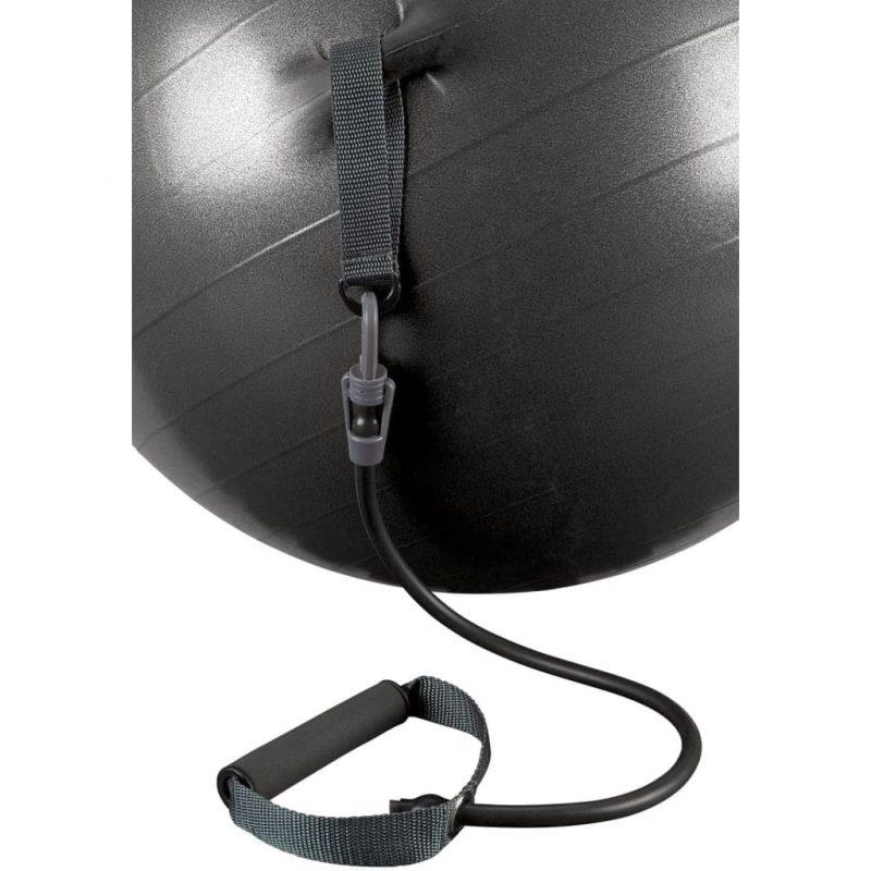 Avento Žoga za vadbo z elastikami 65 cm črna 41TO-ZWG-65