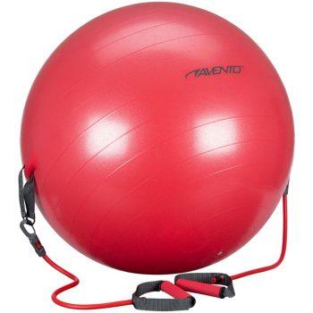 Avento Žoga za vadbo z elastikami 65 cm rdeča 41TO-ROG-65