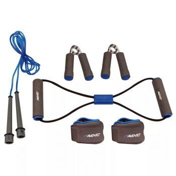 Avento Fitnes komplet siv/kobaltno moder/črn 41VE
