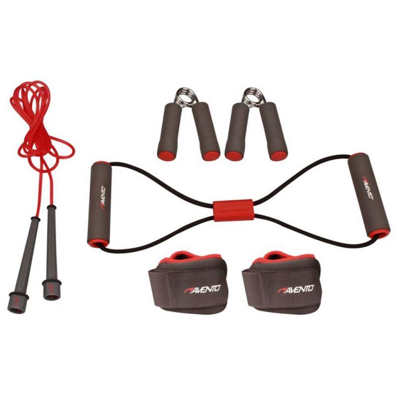 Avento Fitnes komplet siv/roza/črn 41VE