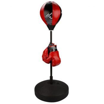 Avento Otroška Refleksna Žoga za Boks Komplet Črno/Rdeče Barve