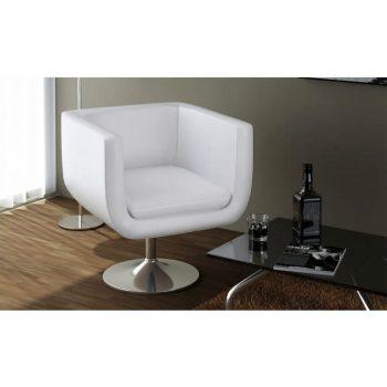 Barski stoli 2 kosa belo umetno usnje