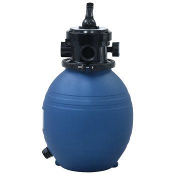 Bazenski peščeni filter s 4-pozicijskim ventilom moder 300 mm