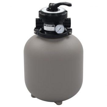 Bazenski peščeni filter s 4-pozicijskim ventilom siv 350 mm