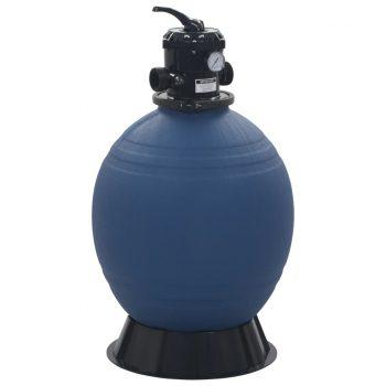 Bazenski peščeni filter s 6-pozicijskim ventilom moder 560 mm