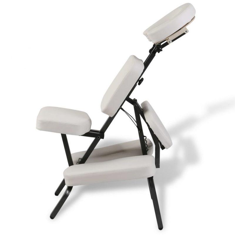 Bel zložljiv in prenosen masažni stol
