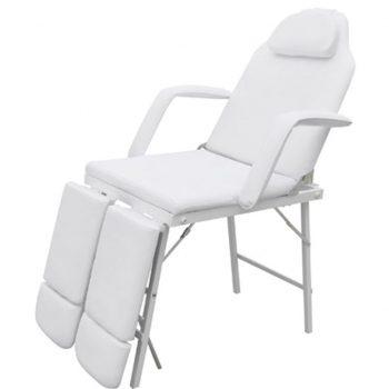 Bela stol zdravljenja z nastavljivo nogo počiva
