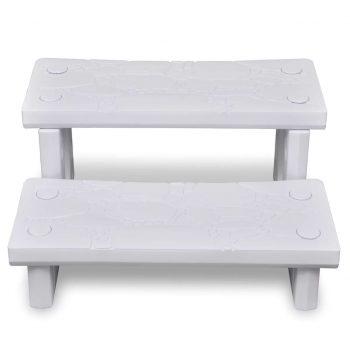 Bele spa stopnice