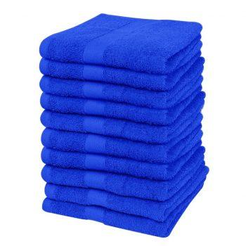 Brisače za goste 10 kosov bombaž 500 gsm 30x50 cm živo modre