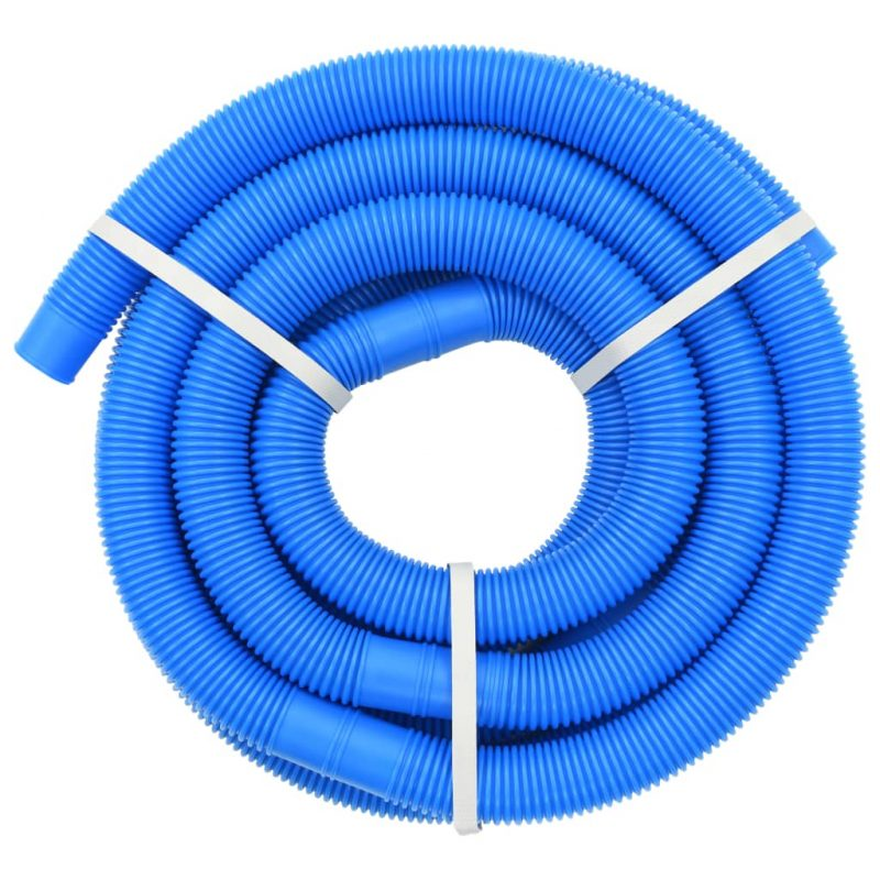Cev za bazen z objemkami 38 mm 6 m modra