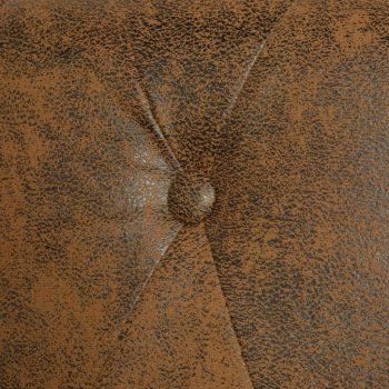 Chesterfield Kavč Dvosed Umetno Usnje Rjave Barve