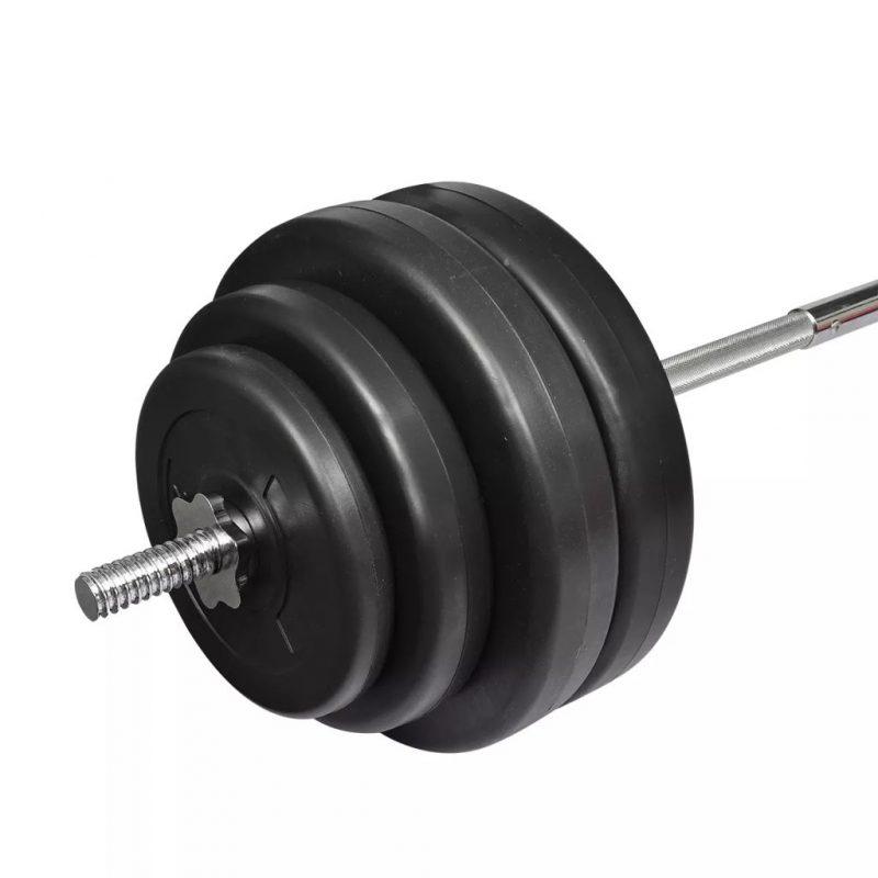 Curl Bara z utežmi 60kg