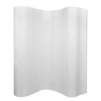 Delilnik prostora iz bambusa bele barve 250x195 cm
