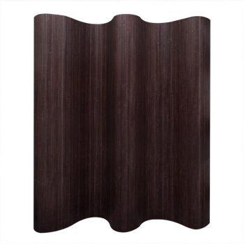 Delilnik prostora iz bambusa temno rjave barve 250x195 cm