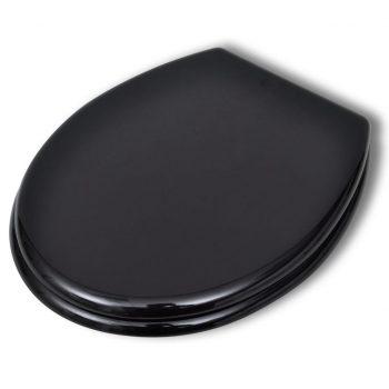 Deska za WC školjko MDF trden pokrov preprost dizajn črna