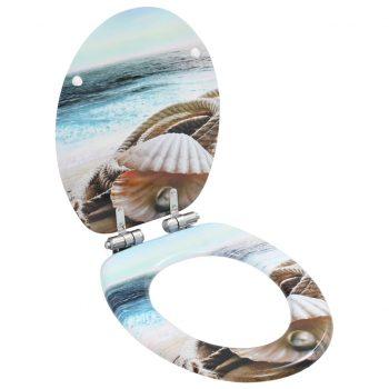 Deska za WC školjko počasno zapiranje MDF dizajn bisernice