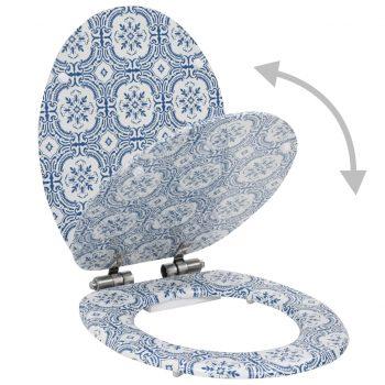Deska za WC školjko počasno zapiranje MDF dizajn porcelan