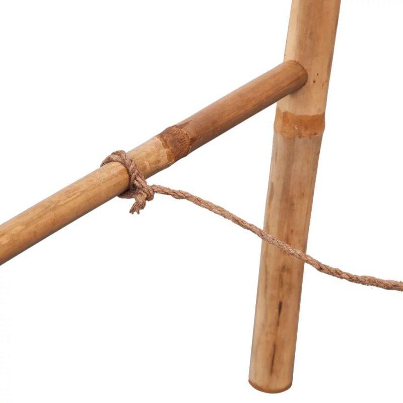Dvojna Lestev za Brisače s 5 Prečkami Bambus 50x160 cm