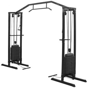 Fitnes naprava Crossover 315 cm črne barve
