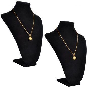Flanelasto stojalo za ogrlice črno 23 x 11