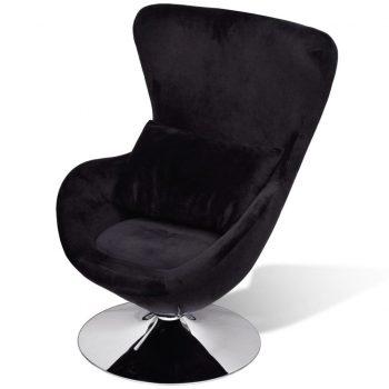 Fotelj jajčaste oblike črne barve