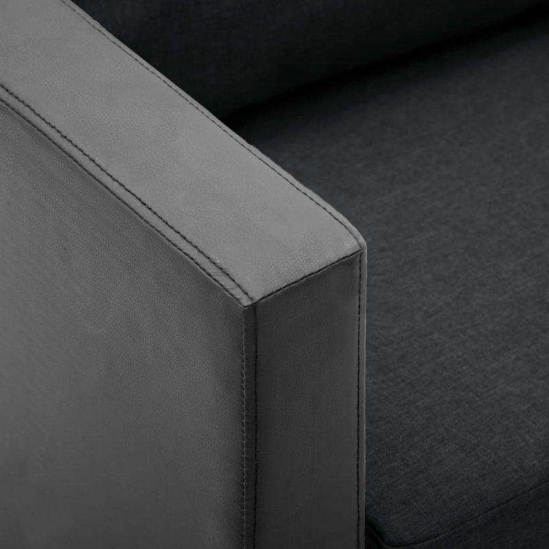 Fotelj umetno usnje črne in temno sive barve