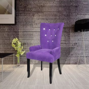 Fotelj vijoličen žamet