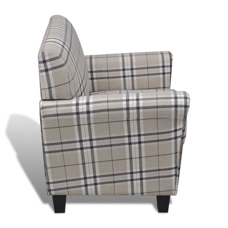 Fotelj z blazino krem blago