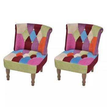 Francoski stoli 2 kosa dizajn mozaika iz blaga
