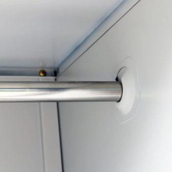 Garderobna omara s 3 vrati jeklo 90x45x180cm siva