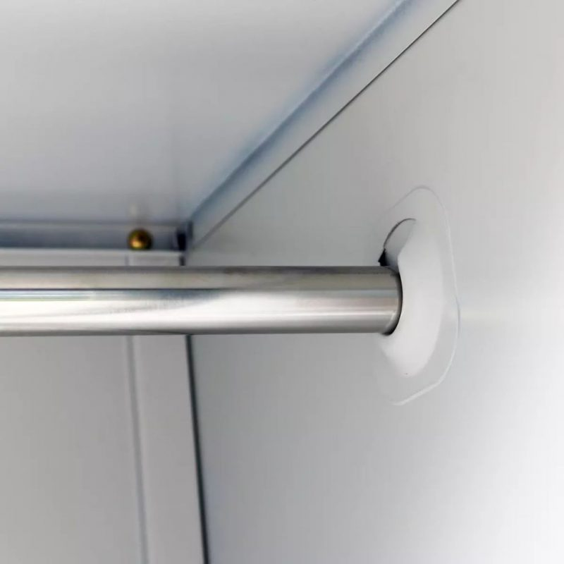 Garderobna omara s 6 vrati jeklo 90x45x180cm siva