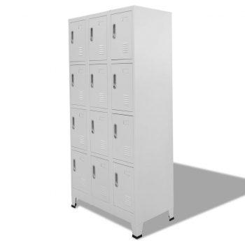 Garderobna omarica na ključ z 12 predelki 90x45x180 cm