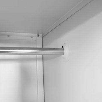 Garderobna omarica na ključ z 2 predelkoma 38x45x180 cm