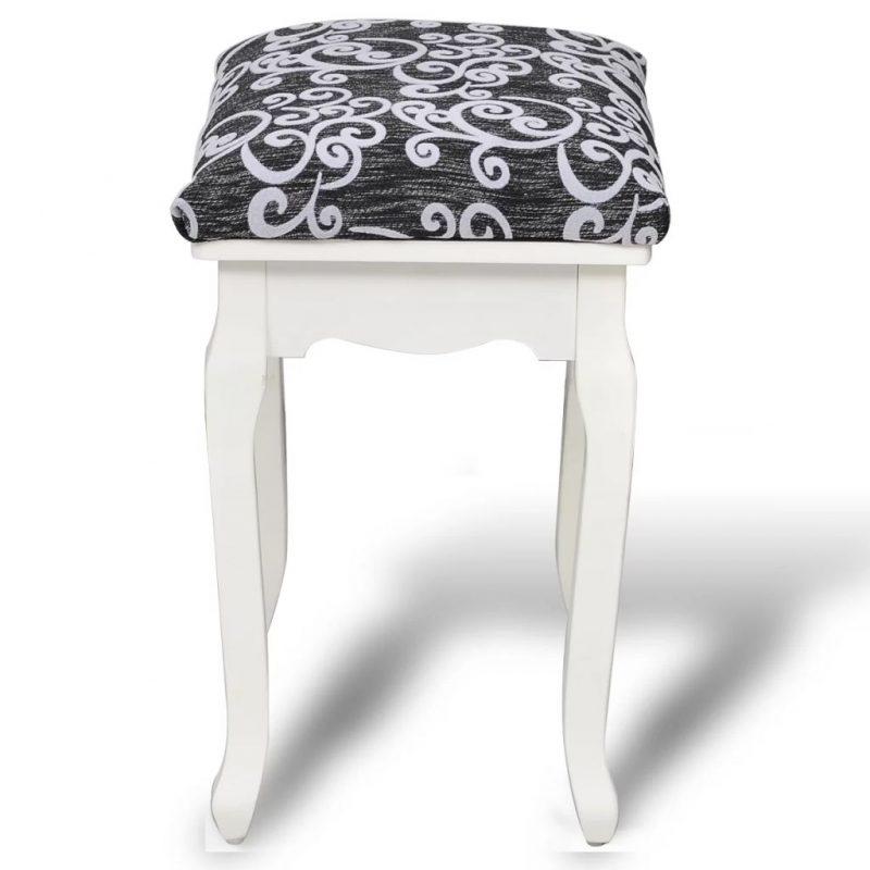Garderobni stolček črno blago