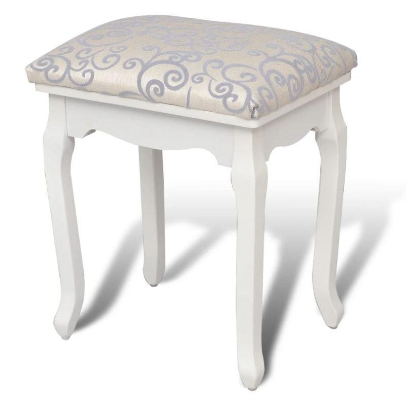 Garderobni stolček toplo belo blago