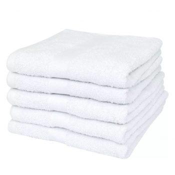 Hotelske brisače 25 kosov bombaž 400 gsm 100x105 cm bele