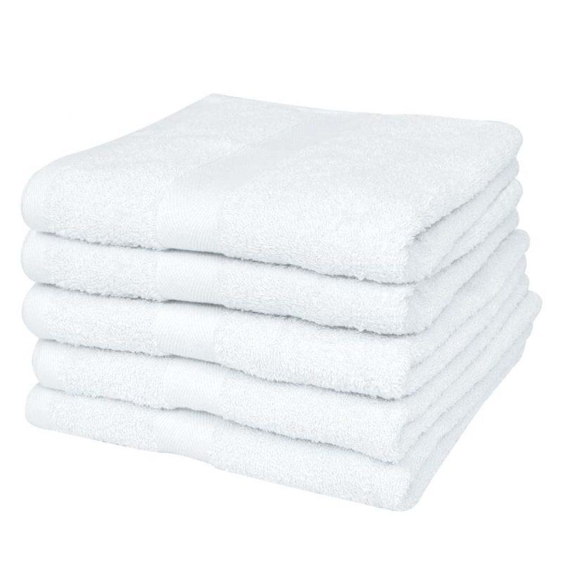 Hotelske brisače 25 kosov bombaž 400 gsm 70x140 cm bele
