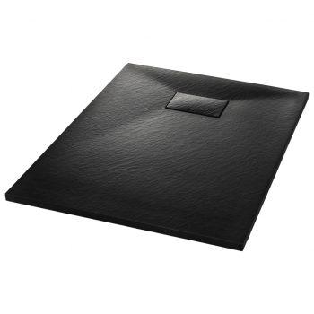 Kad za tuš SMC črna 100x70 cm