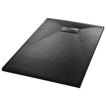 Kad za tuš SMC črna 100x80 cm