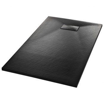 Kad za tuš SMC črna 120x70 cm