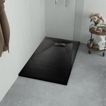 Kad za tuš SMC črna 90x90 cm