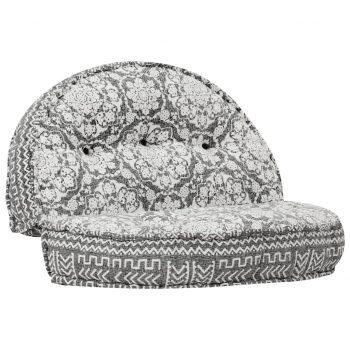Kavč 120x20 cm iz blaga svetlo siv
