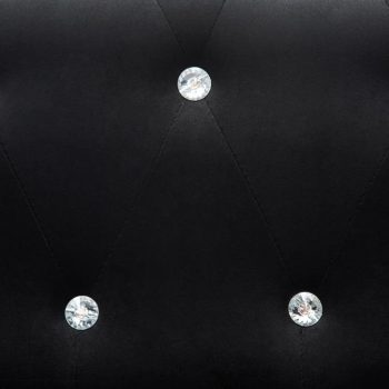 Kavč dvosed Chesterfield z žametno oblogo 146x75x72 cm črni