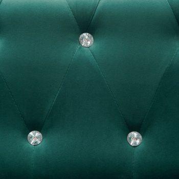 Kavč dvosed Chesterfield z žametno oblogo 146x75x72cm zelen