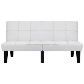 Kavč dvosed belo umetno usnje